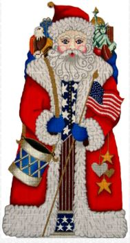 click here to view larger image of American Santa (hand painted canvases)