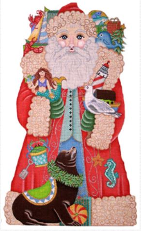 click here to view larger image of Seashore Santa (hand painted canvases)