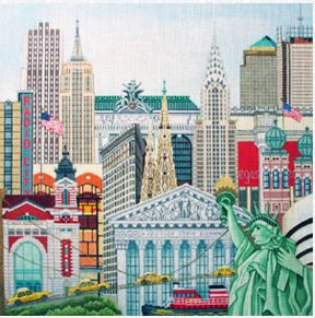 click here to view larger image of New York New York (hand painted canvases)