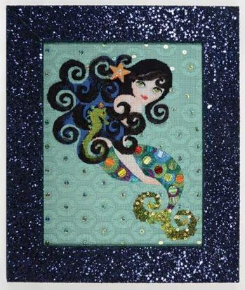click here to view larger image of Aquamarine Mermaid (hand painted canvases)