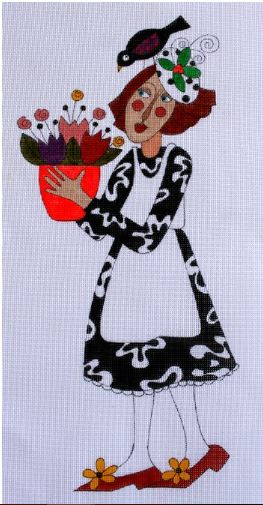 click here to view larger image of Petunia Pansy (hand painted canvases)