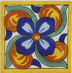 click here to view larger image of Algarve Tile (hand painted canvases)