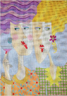 click here to view larger image of Cosmo Girls  (hand painted canvases)