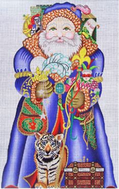 click here to view larger image of Royal Santa (hand painted canvases)