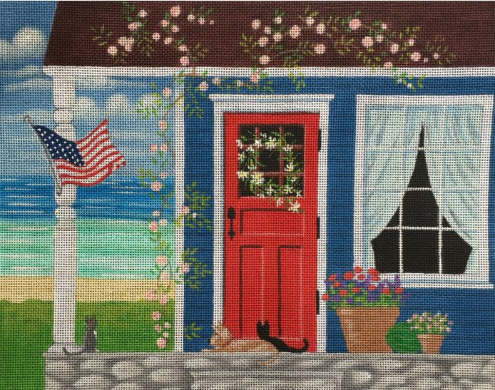 click here to view larger image of Summer on the Porch (hand painted canvases)