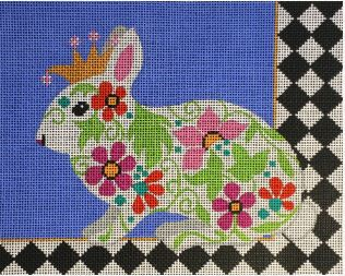 click here to view larger image of Regal Bunny (hand painted canvases)
