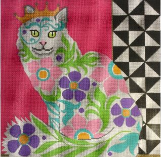 click here to view larger image of Graphic Cat (hand painted canvases)