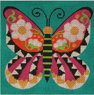 click here to view larger image of Graphic Butterfly (hand painted canvases)