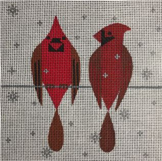 click here to view larger image of 2 Cardinals (hand painted canvases)