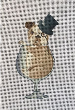 click here to view larger image of Bulldog in Glass (hand painted canvases)
