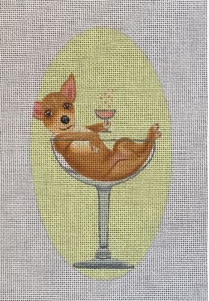 click here to view larger image of Chihuahua in Glass (hand painted canvases)