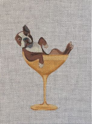 click here to view larger image of Boston Terrier in Glass (hand painted canvases)