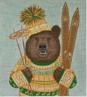 click here to view larger image of Bear Skiing (hand painted canvases)