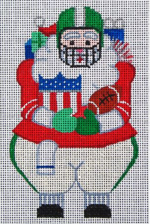 click here to view larger image of Football Santa (hand painted canvases)