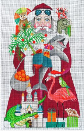 click here to view larger image of Florida Santa  (hand painted canvases)