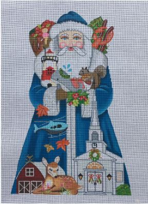 click here to view larger image of New England Santa  (hand painted canvases)