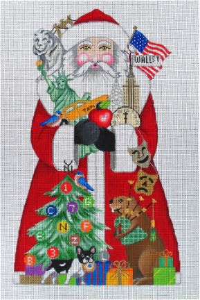click here to view larger image of New York Santa  (hand painted canvases)