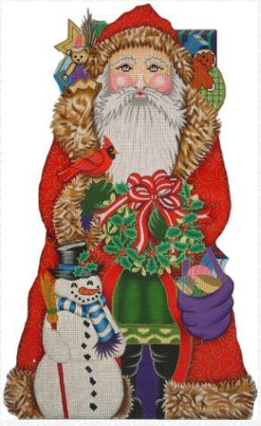 click here to view larger image of Snowman Santa (hand painted canvases)