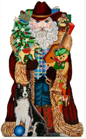 click here to view larger image of Western Santa (hand painted canvases)