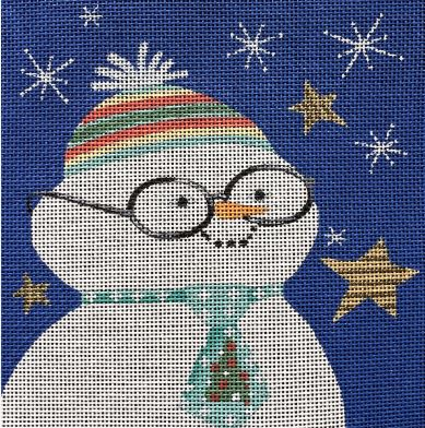 click here to view larger image of Nerdy Snowman (hand painted canvases)