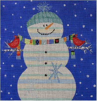 click here to view larger image of Happy Snowman (hand painted canvases)