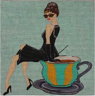 click here to view larger image of Tiffanys and Tea (hand painted canvases)