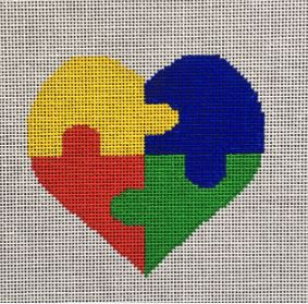 click here to view larger image of Autism Heart (hand painted canvases)