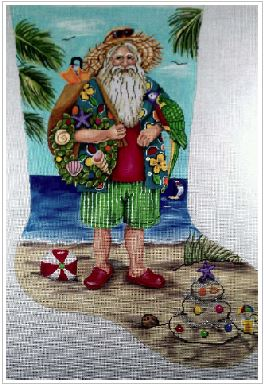 Beach Santa Stocking - click here for more details