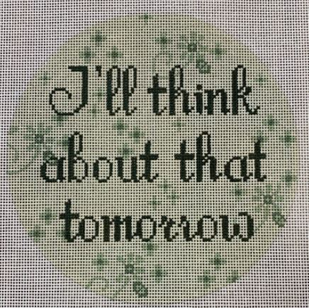 click here to view larger image of I'll Think about that Tomorrow (hand painted canvases)