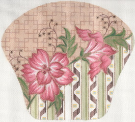 click here to view larger image of Hand Fan with Lily (hand painted canvases)