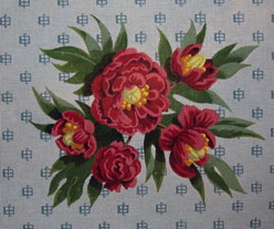 click here to view larger image of Peony (hand painted canvases)