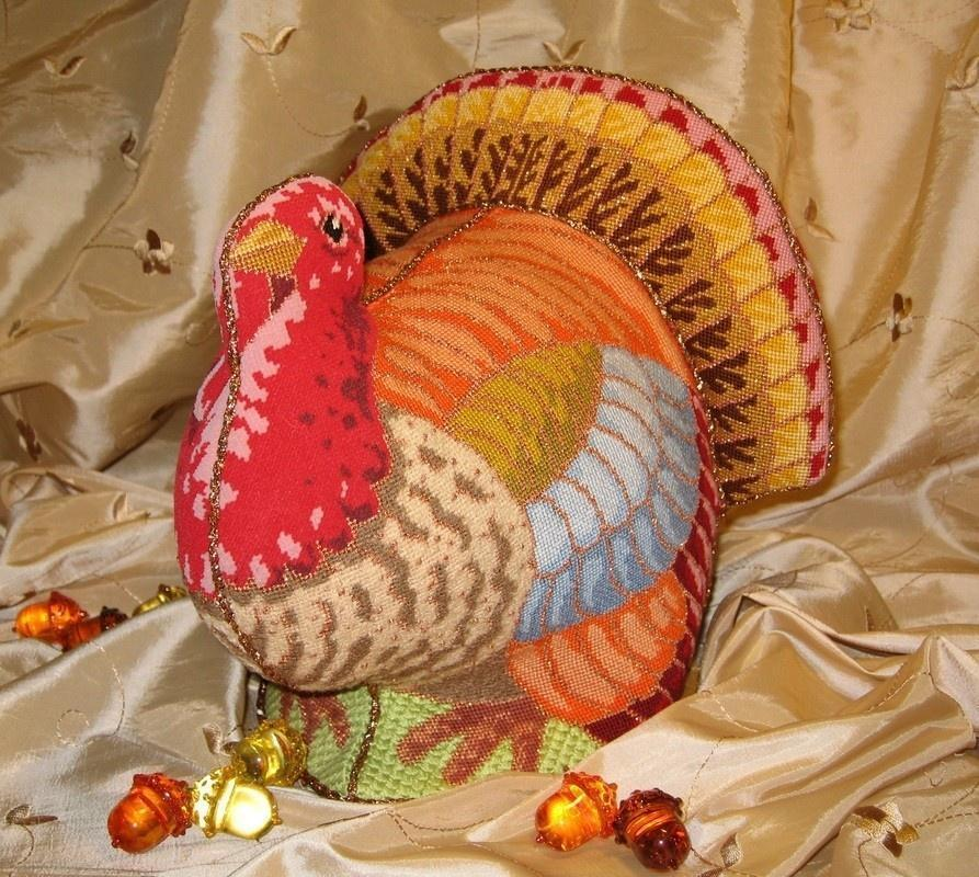 click here to view larger image of Elegant Turkey   (hand painted canvases)