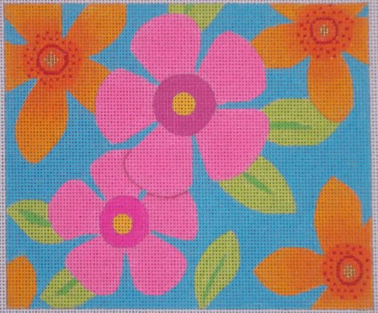 click here to view larger image of Flower Fields - Summer Mini (hand painted canvases)