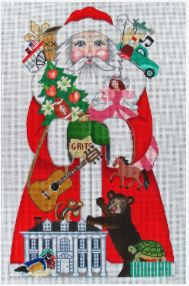 click here to view larger image of Southern Santa (hand painted canvases)