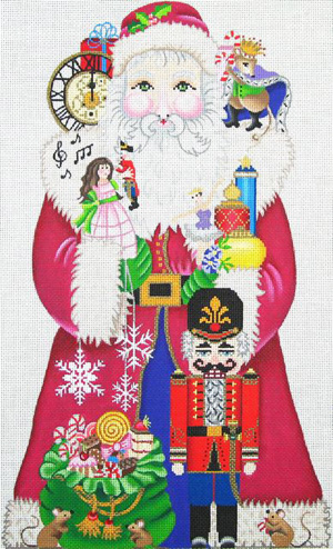click here to view larger image of Nutcracker Sweet Santa  (hand painted canvases)