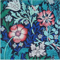 click here to view larger image of William Morris Blues (hand painted canvases)