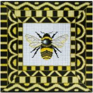 click here to view larger image of Black Bee (hand painted canvases)