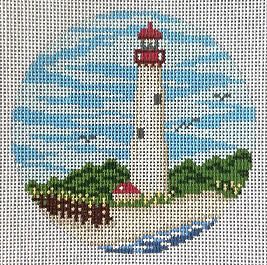 click here to view larger image of Cape May Light Ornament (hand painted canvases)