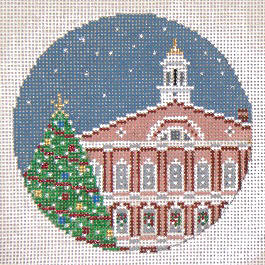 click here to view larger image of Faneuil Hall Ornament Boston MA (hand painted canvases)