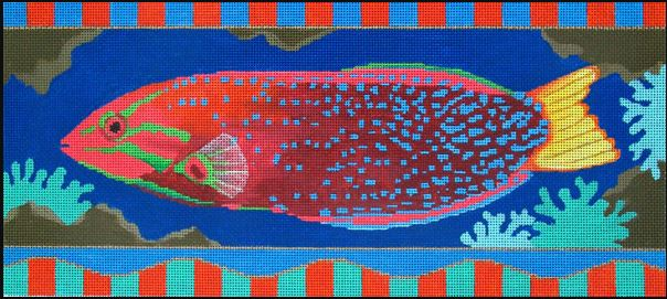 click here to view larger image of Yellow Tailed Red Fish (hand painted canvases)