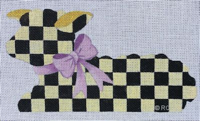 click here to view larger image of Checkered Lamb (hand painted canvases)