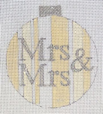 click here to view larger image of Mrs & Mrs Ornament (hand painted canvases)