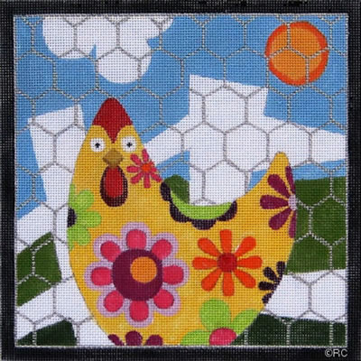 click here to view larger image of Chicken Pen (hand painted canvases)