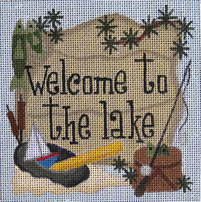 click here to view larger image of Welcome to the Lake (hand painted canvases)