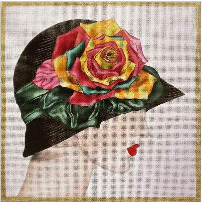 click here to view larger image of Black Hat (hand painted canvases)