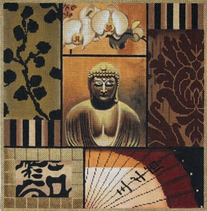 click here to view larger image of Buddha Collage (hand painted canvases)