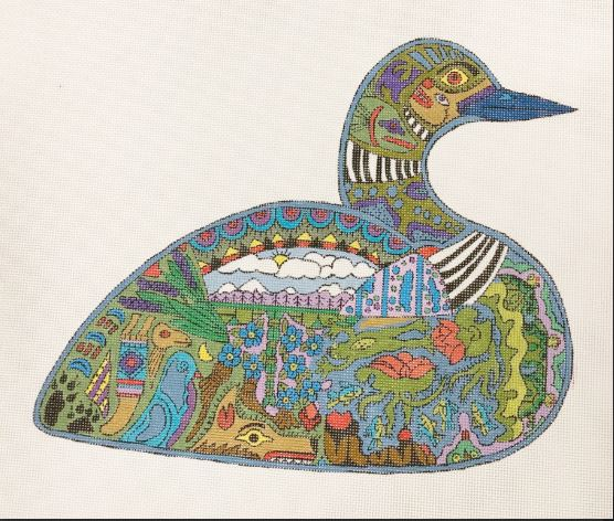 click here to view larger image of Loon (hand painted canvases)