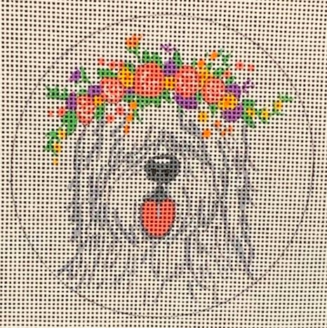 click here to view larger image of English Sheep Dog (hand painted canvases)