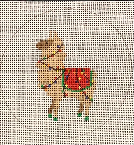 click here to view larger image of Llama Christmas Lights (hand painted canvases)