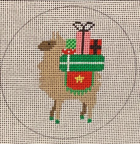 click here to view larger image of Llama Christmas Presents (hand painted canvases)